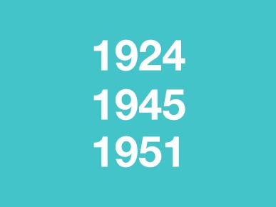Voorstellingen 1924, 1945 & 1951
