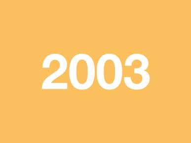 Voorstelling 2003